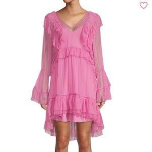 Ruffle hi low dress